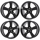 20 CHEVROLET CAMARO SS BLACK WHEELS RIMS FACTORY OEM SET 4 5529 5531 EXCHANGE