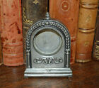Antique French Ladies Pocket Watch Stand Holder Pewter or Small Clock Case