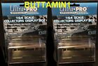 ULTRA PRO 1:64 Scale LOT of 2X Diecast Car DISPLAY CASES Box Holder Mirror Back