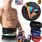 Black Sport Workout Basketball Weight Lifting Protector Pressure Wasit Belt Gg