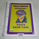 Vintage Mello Smello Scratch and Smell Sniff Spiral Notebook Grape Snow Cone