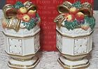 Fitz & Floyd Christmas Snowy Woods Salt & Pepper Shakers New In Box