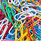 New Colorful Paperclips office supplies paper clips vinyl coated 300 pcs