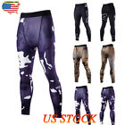 US Mens Fitness Jogging Pants Compression Tight Training Leggings GYM Sports