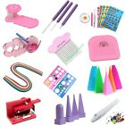 Paper Quilling Tool DIY Craft Slotted Template Board Mould Grid Needle Pen Kit
