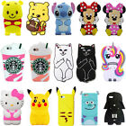 3D Cartoon Soft Silicone Phone Case Cover For iPod Touch 5 6 iPhone 5 6 7 8 Plus