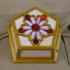 Antique Art Deco ceiling light Stained Glass Tiffany Style Lamp Original Vintage
