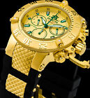 Invicta 50mm Subaqua Noma III Swiss Z60 Chronograph 18K Gold Plated SS PU Watch