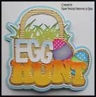 Egg Hunt Title Premade Paper Piecing Die Cut for Scrapbook Page byBabs