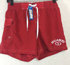 Adoretex Women Official Life Guards Shorts Red Size L Drawstring