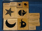 Stampin Up Nursery Necessities Retired 12 stamps Star Moon Boat Baby