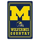 BSIP 71003 NCAA Michigan Wolverines Metal Sign 12 x 18 Multicolor