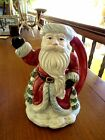 Christmas Santa Claus Candle Stick Holder Fitz and Floyd Omnibus 1990 Mint