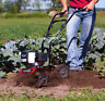 Small Gas Powered Tiller Mini Cultivator Vegetable Garden Landscaping 2 Cycle