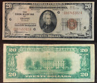 1929 $20 National Currency Chicago IL - Small Note - Brown Seal G 00745302 A