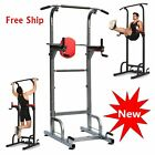 NEW DELUXE POWER TOWER CHIN UP STATION KNEE DIP PUSH UP PULL UP RAISE GYM HOME