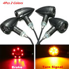 4x Universal Motorcycle Dual Colors LED Amber Turn Signal lights Rear Brake Lamp