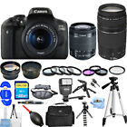 Canon EOS Rebel T6i 750D DSLR Camera W 18 55mm + 75 300mm II Lens MEGA KIT NEW