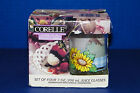 Corelle Corning Set of 4 Glass Juice Tumblers Sunsations Sunflower 7 oz Glasses