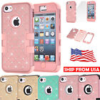 Hybrid Heavy Duty Shockproof Diamond Case Impact Protection for iPhone 5C 5S 6