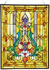 Victorian Tiffany Style Stained Glass Window Panel Suncatcher Handcrafted Decor