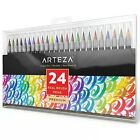 Arteza Real Brush Pens 24 Colors Watercolor Markers Set of 24