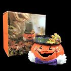 Fitz and Floyd Derby Pumpkin Pillar Candle holders Jack o Lantern Halloween