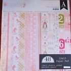 Authentique Cuddle Girl 12x12 Double Sided Cardstock Paper Stack Collection