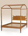 Bed Queen Size Canopy Poster Frame Wood Bedroom Furniture Handcrafted New