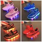 Kids Boys Girls Shoes Light Up Luminous Children Trainers Sport Sneakers LED NEW