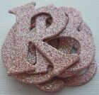 ROSE PETAL PiNK GLiTTER Alphabet Chipboard Letter Die Cuts 15 inch Tall