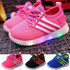 Kids LED Shoes Girls Boys Light Up Luminous Trainers Sport Sneakers Casual Shoes
