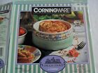 Corningware French White 1 1/2 qt covered round casserole Summer Blush Cozy Lid