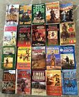 Lot of 20 Westerns Paperbacks Various Authors