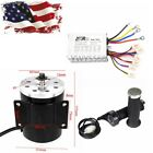 48V 1000W Electric Brush Motor + Controller + Grip For ATV GoKart Razor e300 su0