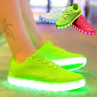 Candy Color Women LED Light Up Casual Shoes Cool Sportswear USB Luminous Sneaker