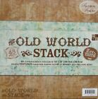 DCWV The Old World Stack 12x12 Textured Cardstock Stack 48 Luxurious Sheets