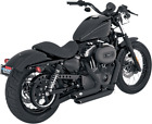 Vance  Hines Black Shortshots Exhaust Pipes Harley Sportster Staggered 47219