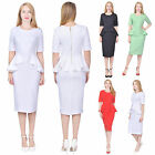 MARYCRAFTS WOMENS CLASSY PEPLUM PENCIL DRESS FOR WORK BUSINESS OFFICE CHURCH