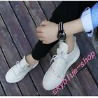 New Mens Casual SHOS Board Shoes Round Toe Lace Up Solid Flat Spring Casual Shoe