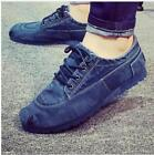 British Chic Mens Lace Up Canvas Comfort Casual Sneakers Shoes Athletic New