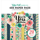 Echo Park Double Sided Paper Pad 6X6 24 Pkg Just Be You