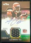 2011 Topps Triple Threads A.J. GREEN #70 75 Autograph Unity Relic Rookie Card SP