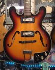 1960s Kawaii Sterling AE-252 335 style Hollow body Electric Guitar HSC Teisco NR