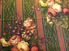 Raymond Waites Mill Creek Cabbage Rose Floral Stripe Brushed Twill Fabric 2 Yds