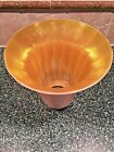 Stunning Antique Signed QUEZAL Gold Aurene Art Glass Lamp Shade
