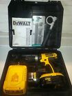 DeWALT 18V Hammer Drill + 2x Batteries + Charger + Case + Handle c/w FREE BITSET
