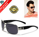 Men Sports Eyewear Black Polarized Aviator Glasses Driving Outdoor UV Sunglasses