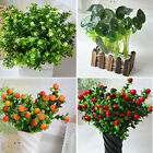 Fake Artificial Plant Plastic Mini Leaves Foliage Flower Grass Office Home Decor
