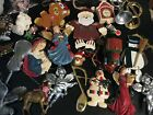 Lot of 40 Holiday Ornaments - Hallmark, Angels, Snowmen, Etc